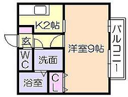 カーサオークマ[2階]の間取り