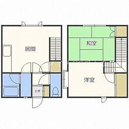 [テラスハウス] 北海道札幌市中央区南十七条西13丁目 の賃貸【/】の間取り