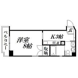 静岡県浜松市中区北寺島町の賃貸マンションの間取り