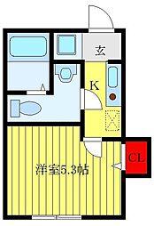 都営三田線 板橋本町駅 徒歩4分の賃貸アパート 1階1Kの間取り