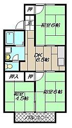 L橘[205号室]の間取り