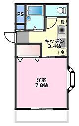 モデラート[3階]の間取り