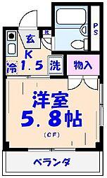 エクセル貴多川第2[311号室]の間取り