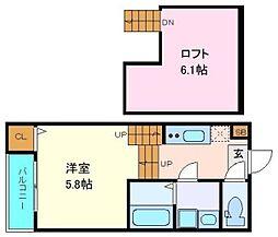 仙台市営南北線 旭ヶ丘駅 徒歩9分の賃貸アパート 1階2Kの間取り
