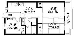 シャルマンクレール2番館[2階]の間取り