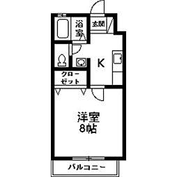 アンソレイユ宮子B[1階]の間取り