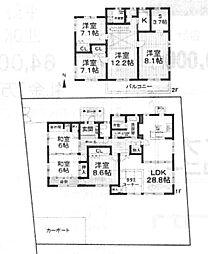 [一戸建] 大阪府堺市東区西野 の賃貸【/】の間取り