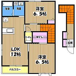 グランメール昭島J[2階]の間取り
