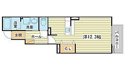 兵庫県姫路市大津区勘兵衛町の賃貸アパートの間取り