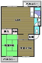 茶山台B団地[1階]の間取り