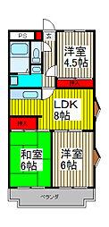 エステートK[2階]の間取り