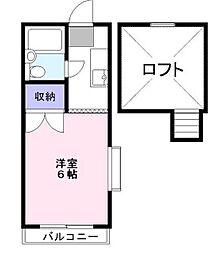 富士ハイツ[2階]の間取り