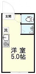 アーバンプレイス武蔵野 1階ワンルームの間取り