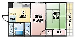 大和町マンション[1階]の間取り