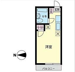 コーラルハイツ東戸塚[202号室]の間取り