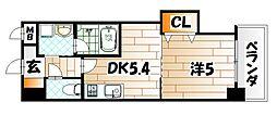 THE SQUARE Platinam Residence[5階]の間取り