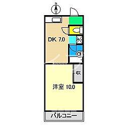 ロイヤルガーデンI[4階]の間取り