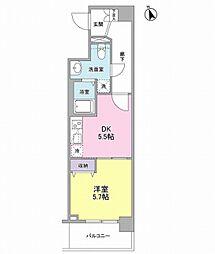 メルベイユヨコハマ[2階]の間取り