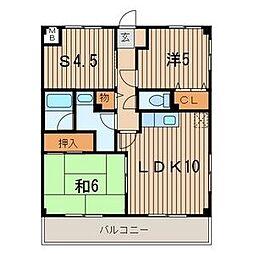 リビックA[2階]の間取り