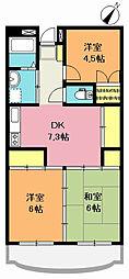 富士ニューハイツ[102号室]の間取り