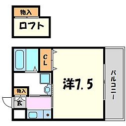兵庫県尼崎市武庫之荘2丁目の賃貸マンションの間取り