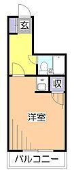 東京都小平市鈴木町2丁目の賃貸マンションの間取り