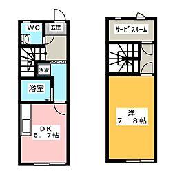 [テラスハウス] 三重県伊賀市服部町3丁目 の賃貸【/】の間取り