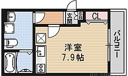 girasole(ジラソーレ) 2階ワンルームの間取り