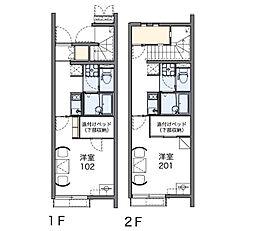 東京都武蔵野市関前4丁目の賃貸アパートの間取り