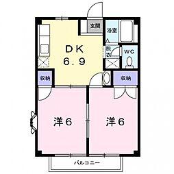 メゾンぷれじゅーる[2階]の間取り
