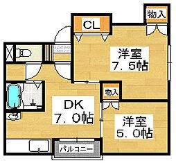 堺フェニックス[3階]の間取り