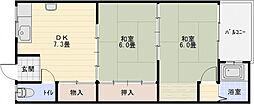 リーフハイツ玉手町[2階]の間取り