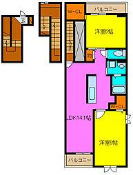 ミレフルール[3階]の間取り