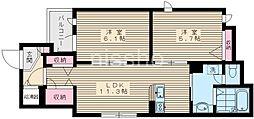 7115−STREAM[401号室]の間取り