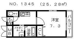 レジュールアッシュ天王寺II[7階]の間取り