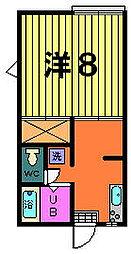 第二稲荷山ハイツ[A−1−A号室]の間取り