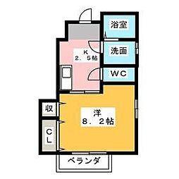 三重県津市島崎町の賃貸アパートの間取り