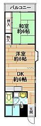 ヤマギマンション2[3階]の間取り