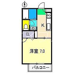 シャーメゾン和 A棟[2階]の間取り