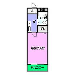 プレアール中之町[2階]の間取り