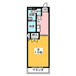 エクセル浅山[2階]の間取り