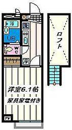 埼玉県三郷市高州の賃貸アパートの間取り
