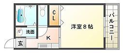 大阪府大阪市平野区長吉長原4丁目の賃貸マンションの間取り