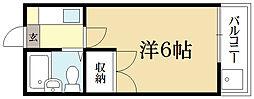 ミヤタハイツ[1階]の間取り