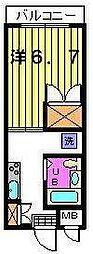 第三カトレアハイツ[3階]の間取り