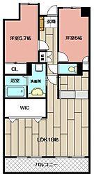 デザイナー・プリンセス・KY[702号室]の間取り