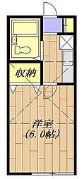東京都青梅市河辺町7丁目の賃貸アパートの間取り