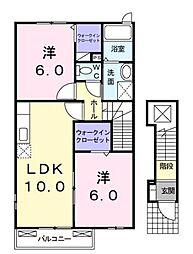 香川県さぬき市昭和の賃貸アパートの間取り