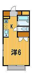 神奈川県横浜市神奈川区桐畑の賃貸アパートの間取り