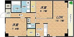 AMARE長堀通[3階]の間取り